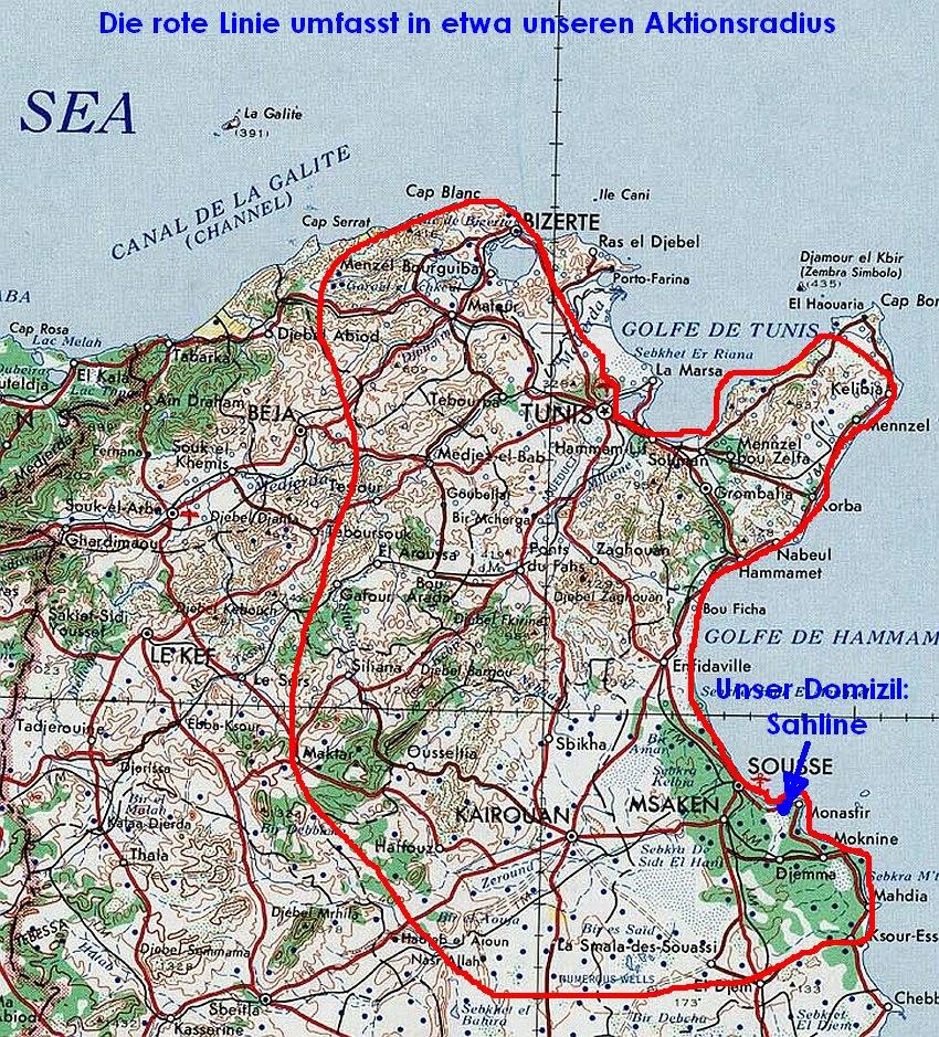 Tunesien Karte.Naturspaziergang Unterwegs In Tunesien Ein Reisetagebuch